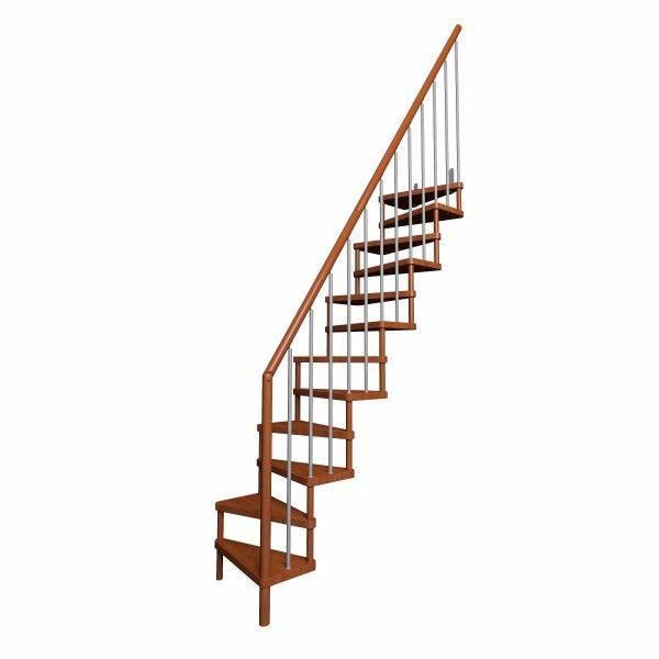 Escaleras madera ahorra espacio