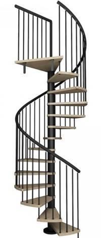 Escaleras de interior de caracol de hierro KUBO-UK del blog de Escalerasa idealkit