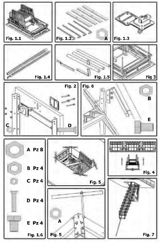 Piezas Escaleras Idealkit