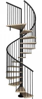 Escaleras de inerior de caracol