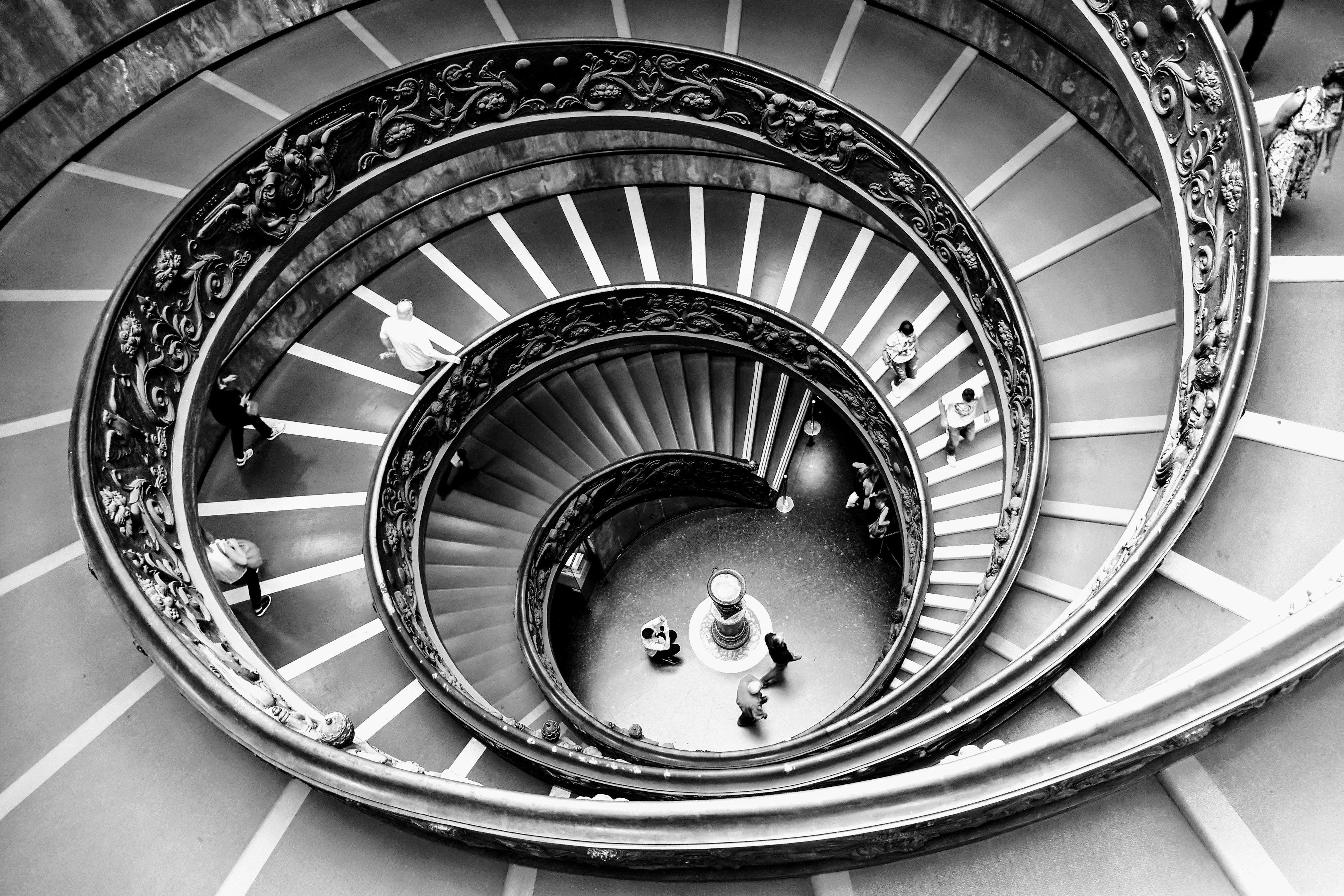 Escaleras de caracol en El Vaticano