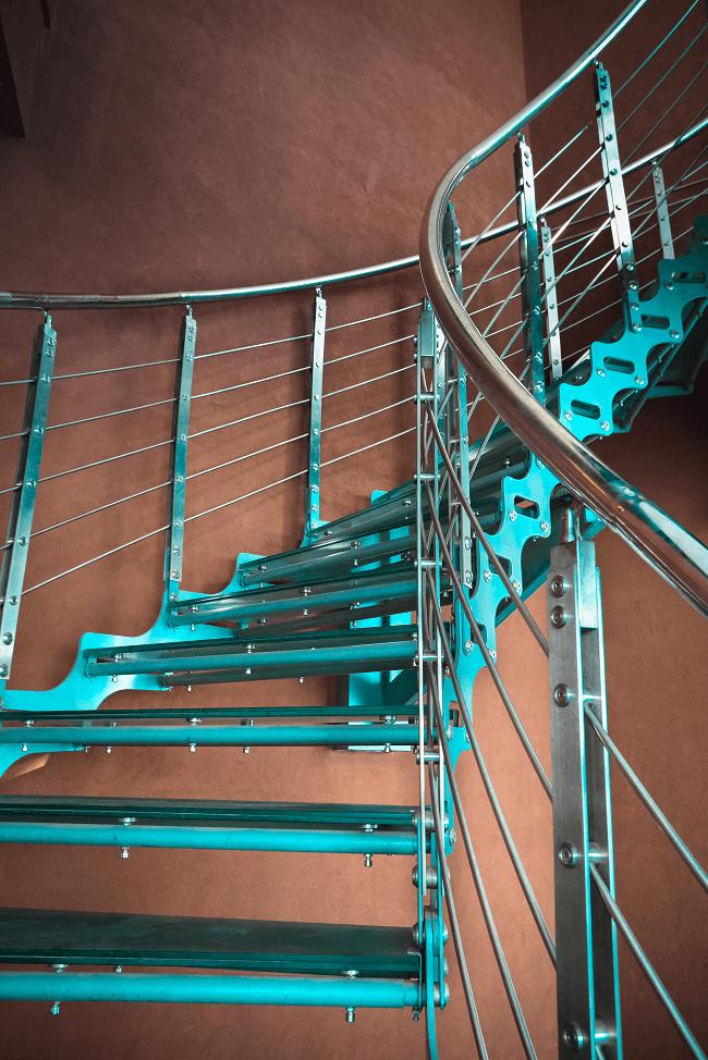 spiral staircase barandillas de metal para escaleras - Idealkit.es